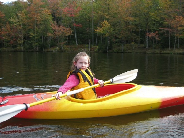Baila loves to kayak, she's been doing it since she was 2-years-old!