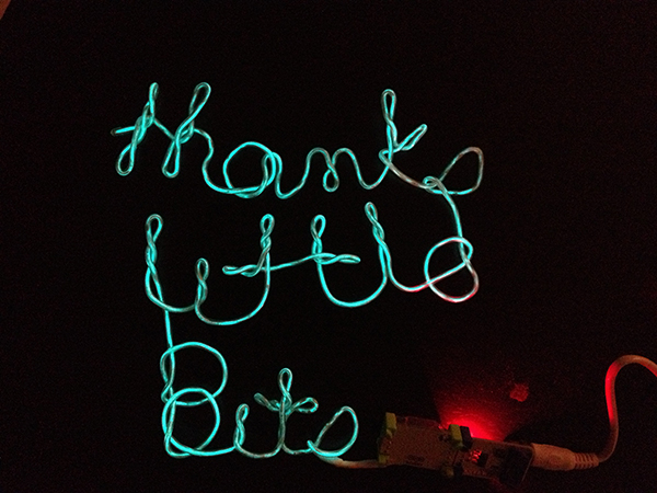 thank you littlebits NOTE