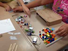 Students at Red Bank Elementary work on their invention