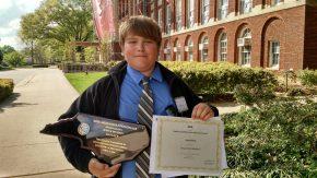 Jake Science Fair trophy 2MEG