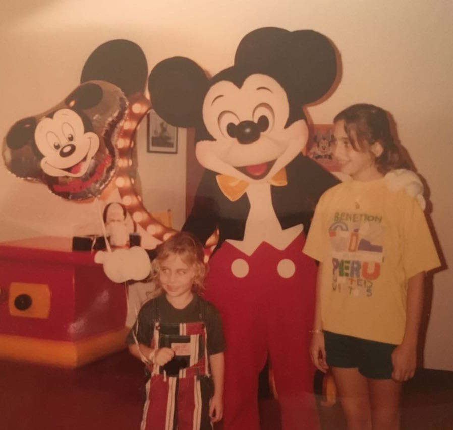 From left to right: Dania Bdeir, Mickey Mouse, Ayah Bdeir