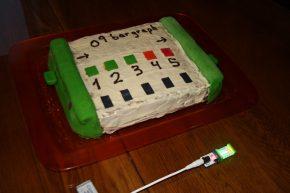 leo cake close up